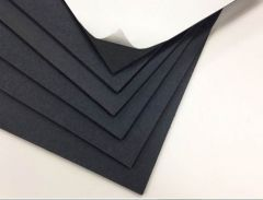 Black Self Adhesive Gator Board Cut Sizes 3/16th Thick